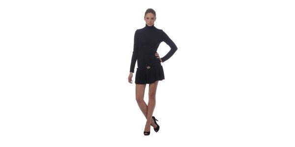 Dámske čierne šaty Miss Sixty s rolákom