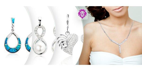 Trblietavé strieborné šperky Ag 925 so zirkónom