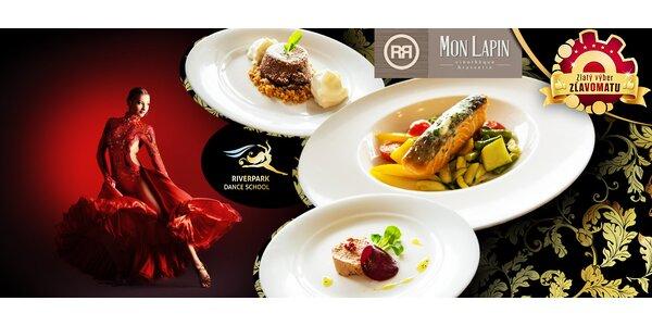 Luxusné 3-chodové menu a temperamentná hodina salsy