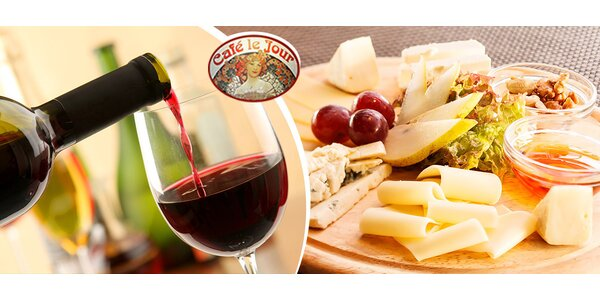 Červené alebo biele víno a syrová misa
