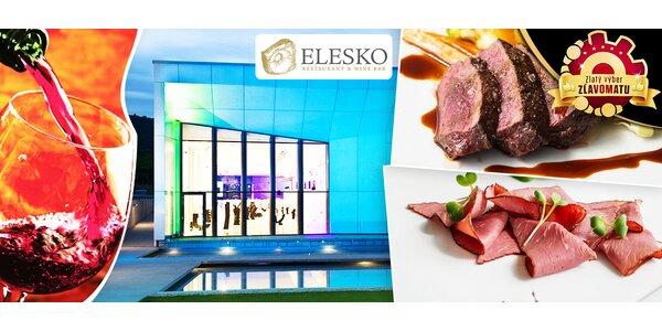 TASTING MENU a degustačné vzorky vína v ELESKO RESTAURANT