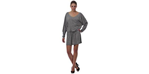 Dámske svetlo šedé úpletové šaty Miss Sixty