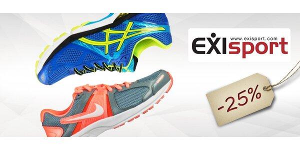 25% zľava na obuv v predajniach EXISPORT