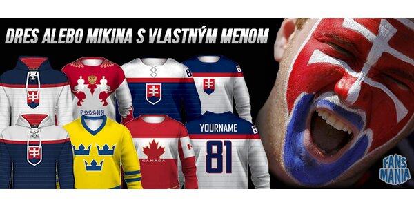 Hokejový dres alebo mikina s vlastným menom a číslom + minidres zadarmo –…