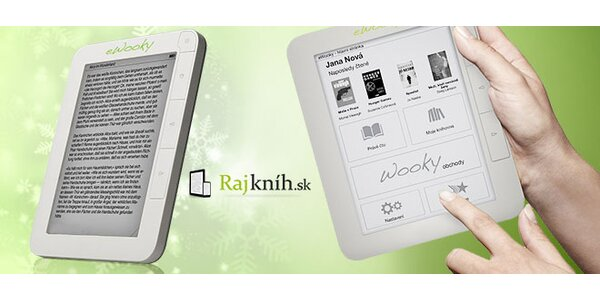 Prvá česko-slovenská dotyková čítačka eWooky a kredit na nákup e-kníh