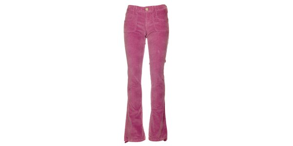 Dámske ružové menčestráky Fundango