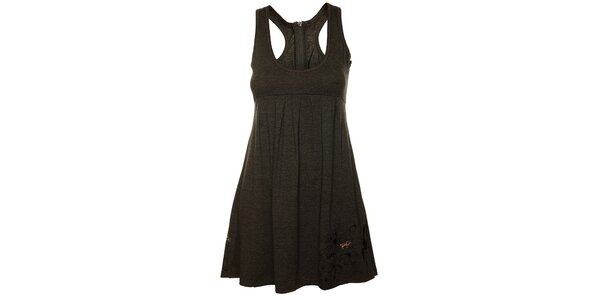 Dámske tmavo šedé tielkové šaty Fundango