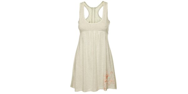 Dámske svetlo šedé tielkové šaty Fundango