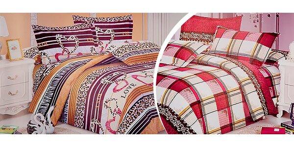 Kvalitná posteľná bielizeň + dodanie; 14 vzorov