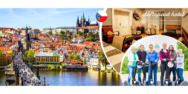 Pobyt v historickom centre Prahy + segway
