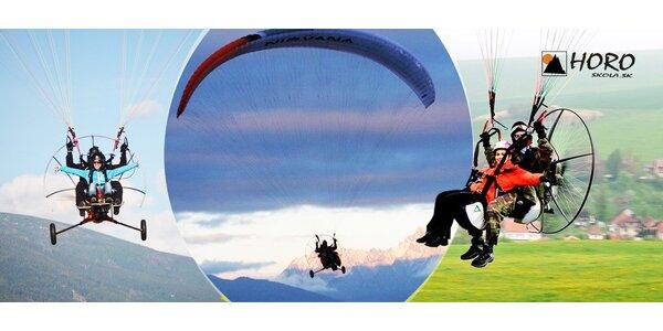 Tandem motorový paragliding 15 či 45 minút