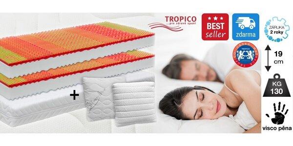 Matrac Tropico Visco Baron + 2 vankúšiky Bulánek