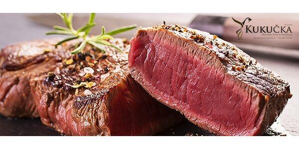 Hovädzí steak s prílohou v hoteli Kukučka****