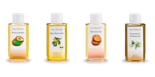 BIO prírodné oleje: arganový, mandľový, avokádový, rascový, sezamový