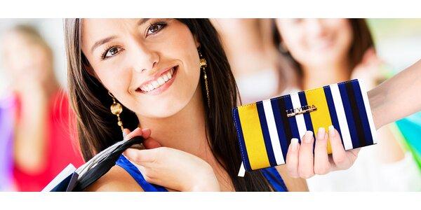 Dámske elegantné pásikavé peňaženky Luyida