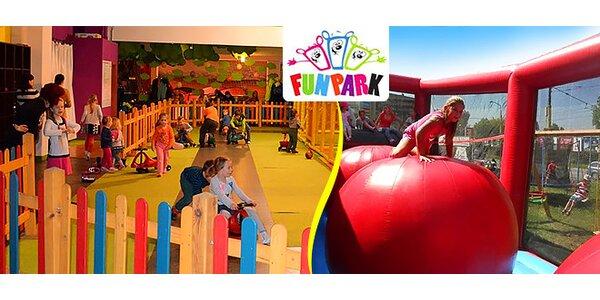 2 vstupy do detského centra FUN PARK
