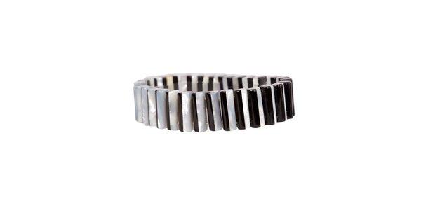 Dámsky čierno-biely perlový náramok Arla