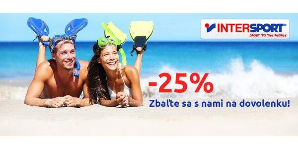 25 % zľava na plavecký a plážový sortiment