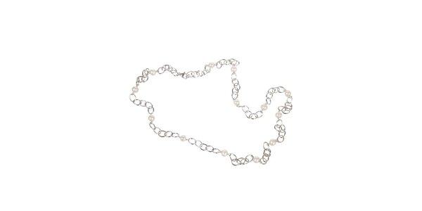 Dámsky strieborný perlový náhrdelník Arla