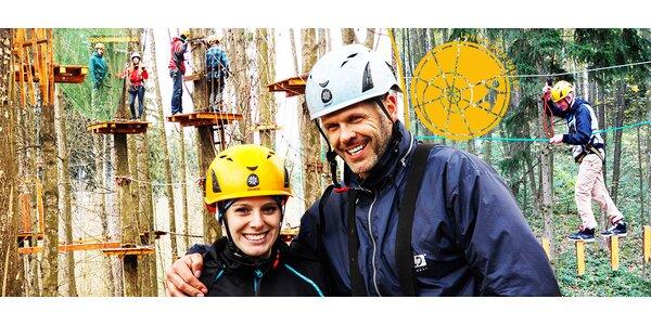 Atrakcie lanového parku Preles