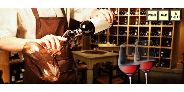 Ochutnávka vín v centre mesta pre dvoch