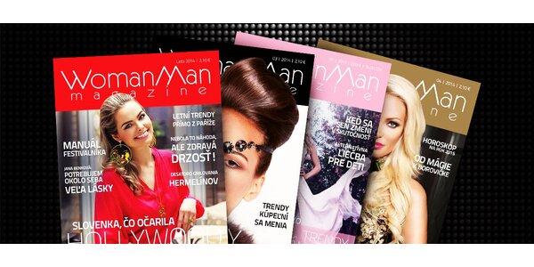 Predplatné časopisu WomanMan na celý rok