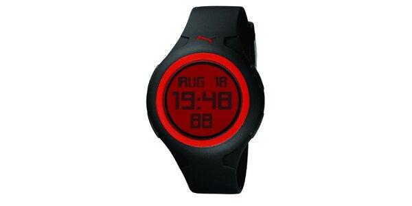 Pánske čierno-červené digitálne hodinky Puma