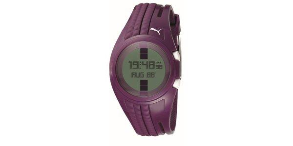Dámske fialové digitálne hodinky Puma