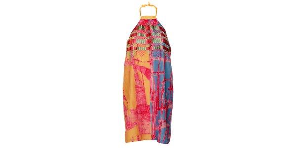 Dámske farebné šaty Custo Barcelona s potlačou