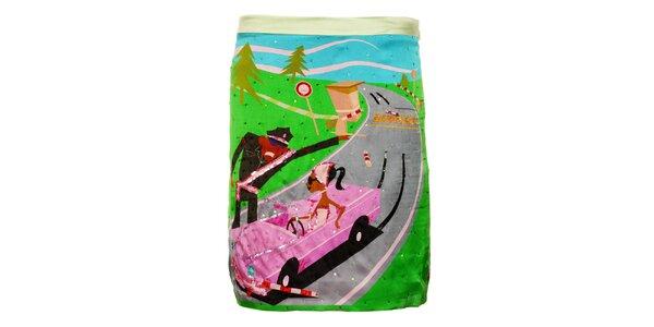 Dámska farebná sukňa Custo Barcelona s kamienkami