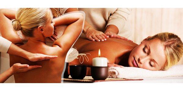 Uvoľňujúca masáž chrbta a šije + telové sviečky