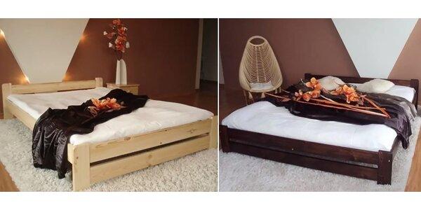 Posteľové komplety z masívu s roštom a matracom