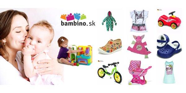 25 % zľava na detský tovar z e-shopu bambino.sk