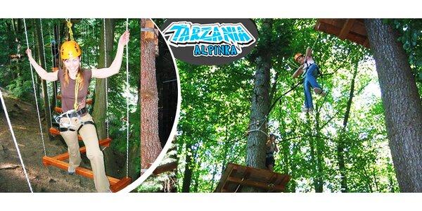Zábava pre malých aj veľkých v Tarzánii Alpinka