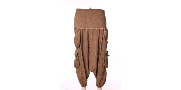 Dámske béžové turecké nohavice s vreckami Angels Never Die