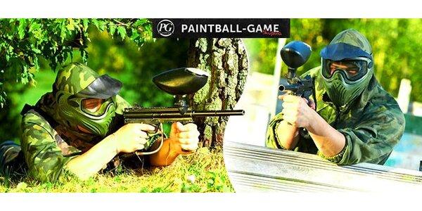 Paintball s kompletným výstrojom