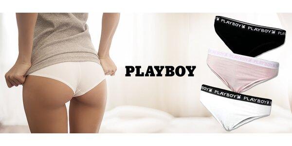 Dámske nohavičky Playboy: 3 kusy