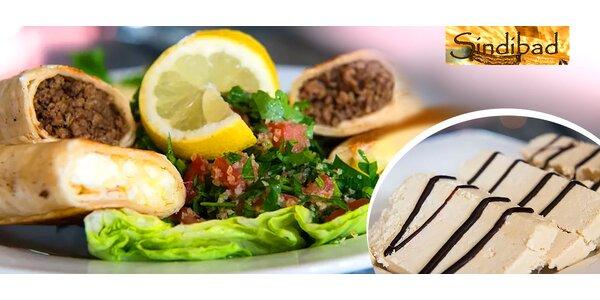 Orientálne arabské 2-chodové menu
