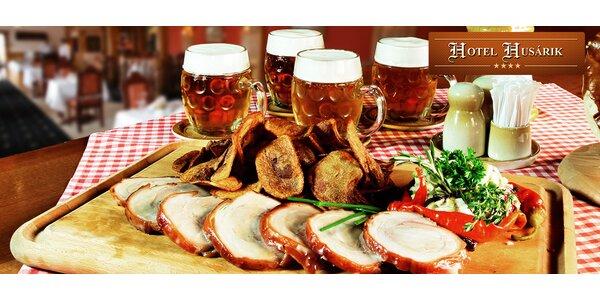 4x čapovaný Plzeň 0,5l a 0,5kg pečené prasiatko