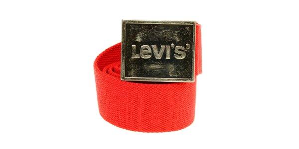 Červený textilný opasok Levi´s