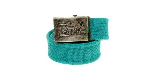 Dámsky tyrkysove modrý textilný opasok Levi´s