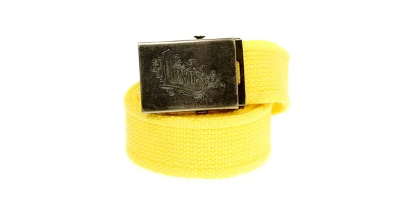 Dámsky žltý textilný opasok Levi´s