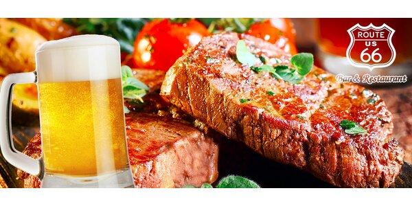 Steak z hovädzej sviečkovice či gril tanier pre 2