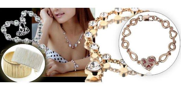 Krásny šperk - pozlátený náramok