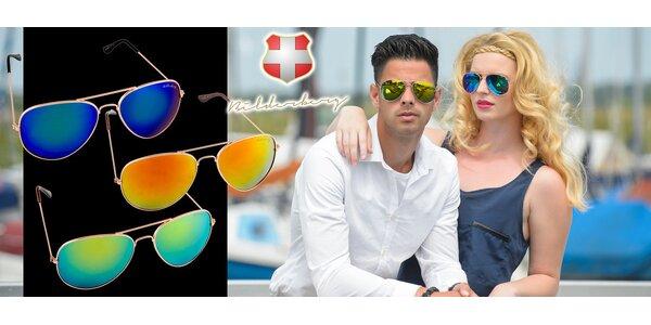 Trojo slnečných okuliarov Aviator