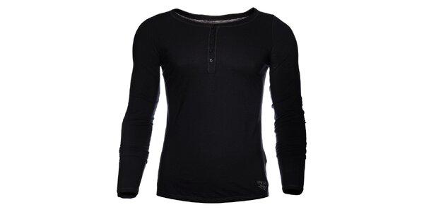 Pánske čierne tričko Pepe Jeans s dlhým rukávom