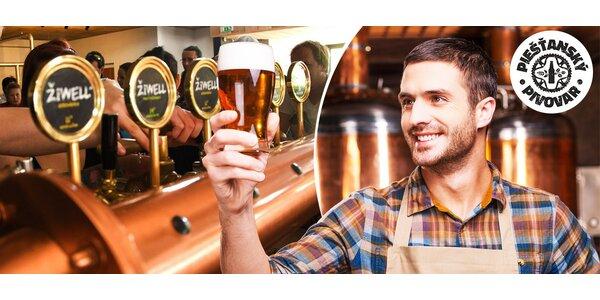Prehliadka Piešťanského pivovaru a degustácia piva