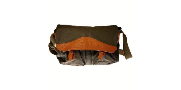 Pánska tmavo zelená taška cez rameno Pepe Jeans