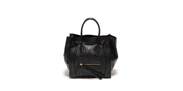 Dámska čierna kabelka s copíkovým detailom Renata Corsi