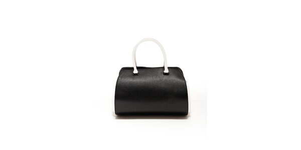 Dámska čierno-biela kožená kabelka Renata Corsi